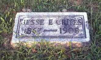 CRITES JESSE, E - Tuscarawas County, Ohio | E CRITES JESSE - Ohio Gravestone Photos