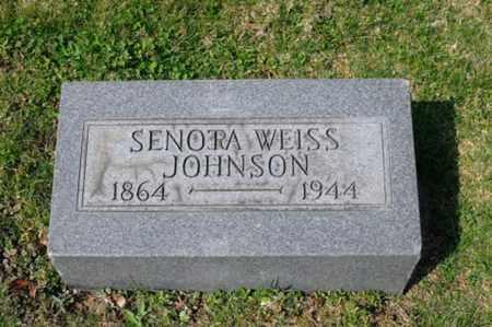 WEISS JOHNSON, SENORA - Tuscarawas County, Ohio | SENORA WEISS JOHNSON - Ohio Gravestone Photos