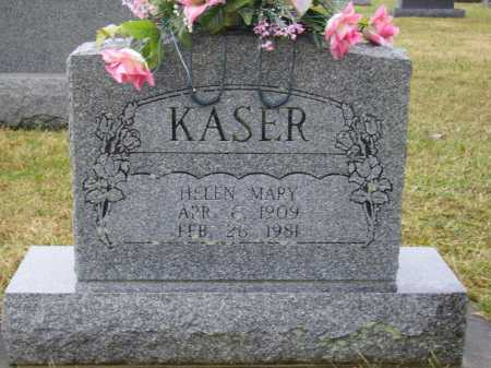 KASER, HELEN MARY - Tuscarawas County, Ohio | HELEN MARY KASER - Ohio Gravestone Photos
