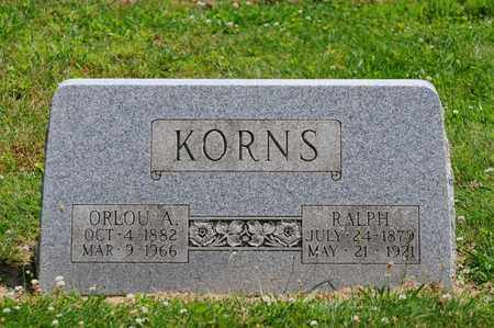 KORNS, ORLOU A. - Tuscarawas County, Ohio | ORLOU A. KORNS - Ohio Gravestone Photos