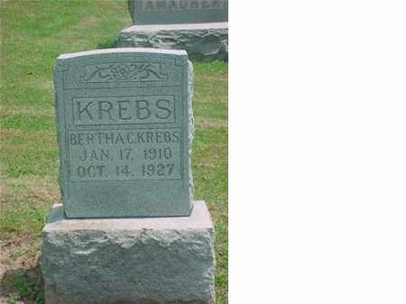 KREBS, BERTHA C - Tuscarawas County, Ohio | BERTHA C KREBS - Ohio Gravestone Photos