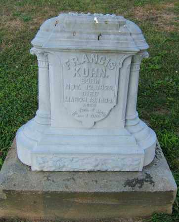 KUHN, FRANCIS - Tuscarawas County, Ohio | FRANCIS KUHN - Ohio Gravestone Photos