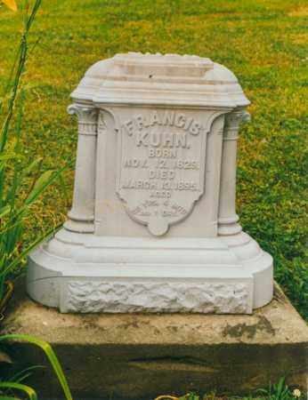 KUHN, FRANCIS - Tuscarawas County, Ohio | FRANCIS KUHN - Ohio Gravestone Photos