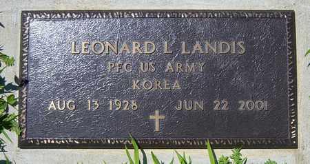 LANDIS, LEONARD L. - Tuscarawas County, Ohio | LEONARD L. LANDIS - Ohio Gravestone Photos