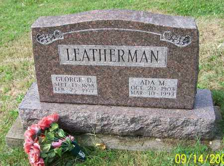 LEATHERMAN, GEORGE D. - Tuscarawas County, Ohio | GEORGE D. LEATHERMAN - Ohio Gravestone Photos