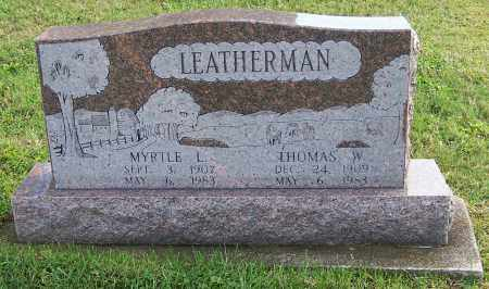 LEATHERMAN, MYRTLE L. - Tuscarawas County, Ohio | MYRTLE L. LEATHERMAN - Ohio Gravestone Photos