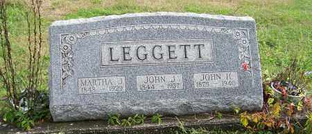 LEGGETT, MARTHA J. - Tuscarawas County, Ohio | MARTHA J. LEGGETT - Ohio Gravestone Photos