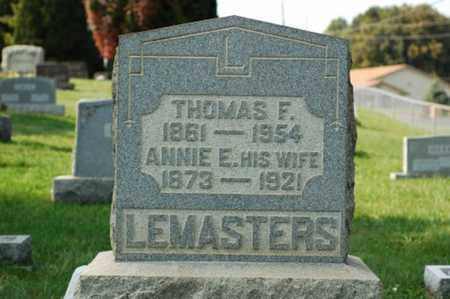 LEMASTERS, THOMAS FREMONT - Tuscarawas County, Ohio | THOMAS FREMONT LEMASTERS - Ohio Gravestone Photos