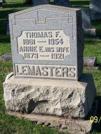 LEMASTERS, THOMAS F. - Tuscarawas County, Ohio | THOMAS F. LEMASTERS - Ohio Gravestone Photos