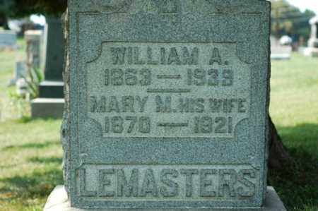 LEMASTERS, WILLIAM A. - Tuscarawas County, Ohio | WILLIAM A. LEMASTERS - Ohio Gravestone Photos