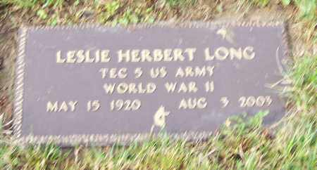 LONG, LESLIE HERBERT   (MIL) - Tuscarawas County, Ohio | LESLIE HERBERT   (MIL) LONG - Ohio Gravestone Photos
