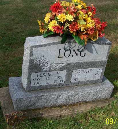 LONG, LESIE HERBERT - Tuscarawas County, Ohio | LESIE HERBERT LONG - Ohio Gravestone Photos