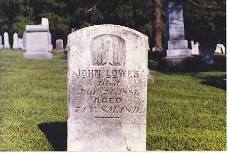 LOWER, JOHN - Tuscarawas County, Ohio | JOHN LOWER - Ohio Gravestone Photos
