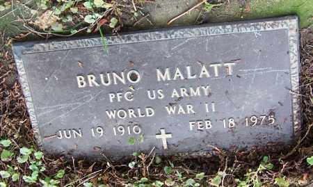 MALATT, BRUNO  (MIL)    (R.ME) - Tuscarawas County, Ohio | BRUNO  (MIL)    (R.ME) MALATT - Ohio Gravestone Photos