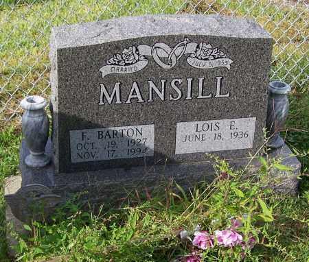 MANSILL, F. BARTON - Tuscarawas County, Ohio | F. BARTON MANSILL - Ohio Gravestone Photos