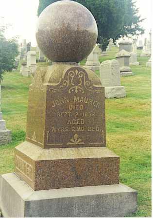 MAURER, JOHN - Tuscarawas County, Ohio | JOHN MAURER - Ohio Gravestone Photos