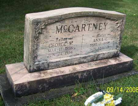 MCCARTNEY, ANNA C. - Tuscarawas County, Ohio | ANNA C. MCCARTNEY - Ohio Gravestone Photos