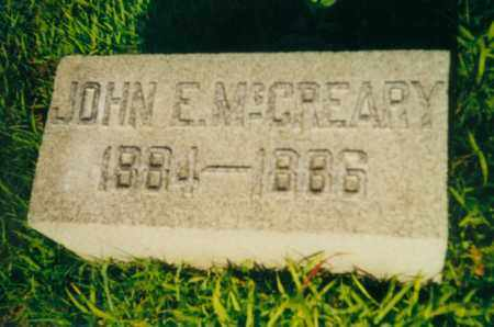 MCCREARY, JOHN EDWIN - Tuscarawas County, Ohio | JOHN EDWIN MCCREARY - Ohio Gravestone Photos