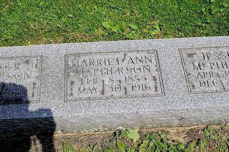 MCPHERSON, HARRIET ANN - Tuscarawas County, Ohio | HARRIET ANN MCPHERSON - Ohio Gravestone Photos