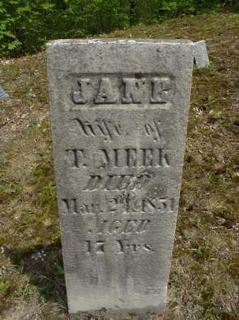 MEEK, JANE - Tuscarawas County, Ohio | JANE MEEK - Ohio Gravestone Photos