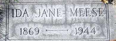 MEESE, IDA JANE - Tuscarawas County, Ohio | IDA JANE MEESE - Ohio Gravestone Photos