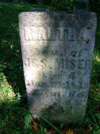 MISER, MARTHA - Tuscarawas County, Ohio | MARTHA MISER - Ohio Gravestone Photos