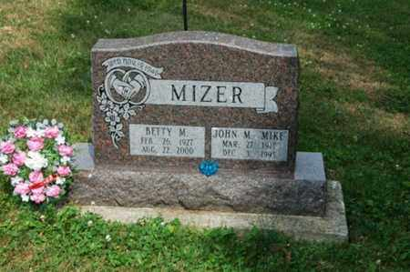 MIZER, BETTY M. - Tuscarawas County, Ohio | BETTY M. MIZER - Ohio Gravestone Photos