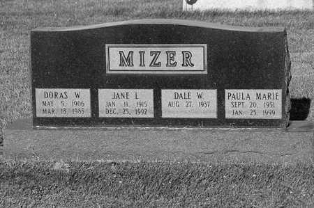MIZER, JANE - Tuscarawas County, Ohio | JANE MIZER - Ohio Gravestone Photos
