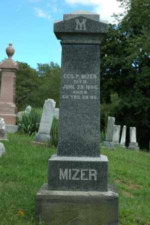 MIZER, GEORGE P. - Tuscarawas County, Ohio | GEORGE P. MIZER - Ohio Gravestone Photos