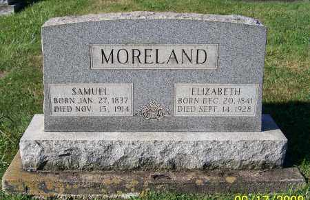 MORELAND, ELIZABETH - Tuscarawas County, Ohio | ELIZABETH MORELAND - Ohio Gravestone Photos