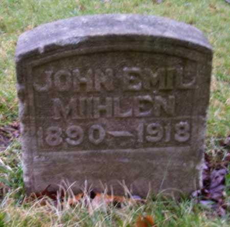 MUHLEN, JOHN EMIL - Tuscarawas County, Ohio | JOHN EMIL MUHLEN - Ohio Gravestone Photos