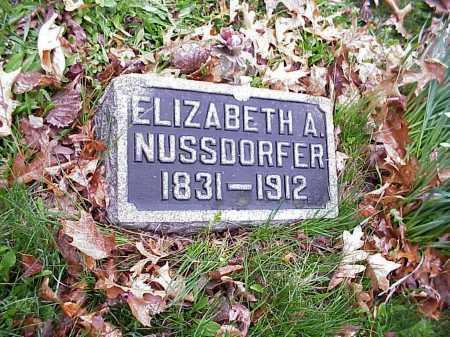NUSSDORFER, ELIZABETH A. - Tuscarawas County, Ohio | ELIZABETH A. NUSSDORFER - Ohio Gravestone Photos