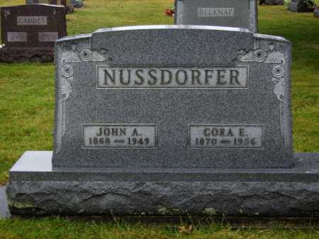 NUSSDORFER, CORA E. - Tuscarawas County, Ohio | CORA E. NUSSDORFER - Ohio Gravestone Photos