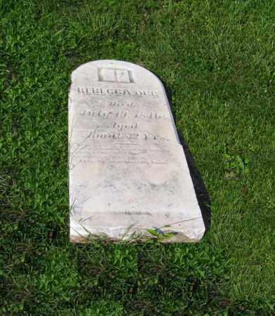 OGG, REBECCA - Tuscarawas County, Ohio | REBECCA OGG - Ohio Gravestone Photos