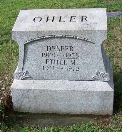 OHLER, DESPER - Tuscarawas County, Ohio | DESPER OHLER - Ohio Gravestone Photos