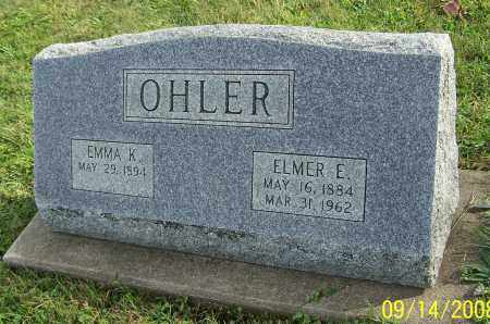 OHLER, EMMA K. - Tuscarawas County, Ohio | EMMA K. OHLER - Ohio Gravestone Photos