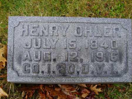 OHLER, HENRY - Tuscarawas County, Ohio | HENRY OHLER - Ohio Gravestone Photos