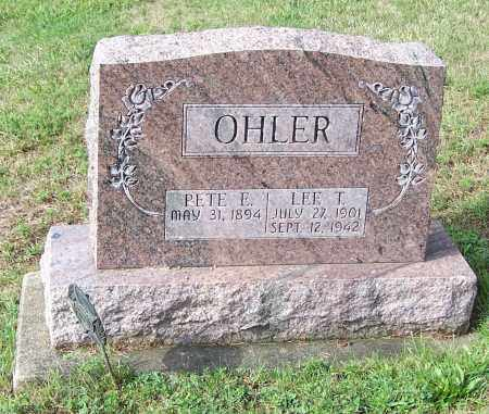 OHLER, LEE T. - Tuscarawas County, Ohio | LEE T. OHLER - Ohio Gravestone Photos