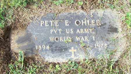 OHLER, PETE E.  (MIL) - Tuscarawas County, Ohio | PETE E.  (MIL) OHLER - Ohio Gravestone Photos