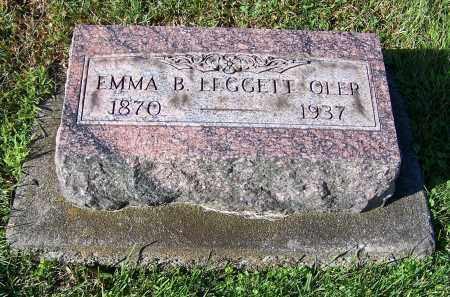 OLER, EMMA B. LEGGETT - Tuscarawas County, Ohio | EMMA B. LEGGETT OLER - Ohio Gravestone Photos