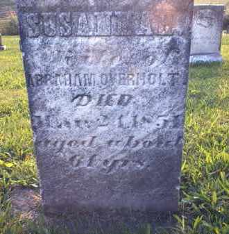 OVERHOLT, SUSANNAH - Tuscarawas County, Ohio | SUSANNAH OVERHOLT - Ohio Gravestone Photos
