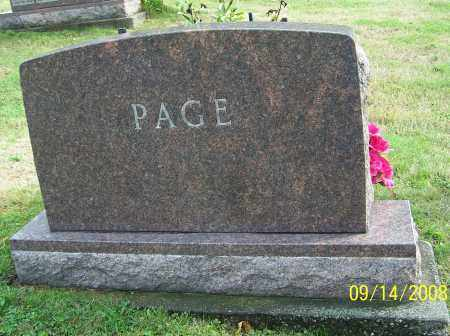 PAGE, FAMILY MONUMENT - Tuscarawas County, Ohio | FAMILY MONUMENT PAGE - Ohio Gravestone Photos