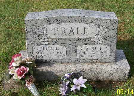 PRALL, BEATRICE A. - Tuscarawas County, Ohio | BEATRICE A. PRALL - Ohio Gravestone Photos