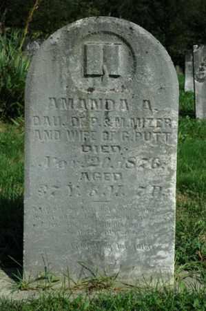 MIZER PUTT, AMANDA A. - Tuscarawas County, Ohio | AMANDA A. MIZER PUTT - Ohio Gravestone Photos