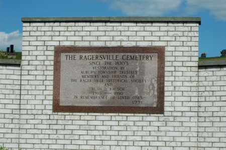 RAGERSVILLE, CEMETERY - Tuscarawas County, Ohio | CEMETERY RAGERSVILLE - Ohio Gravestone Photos
