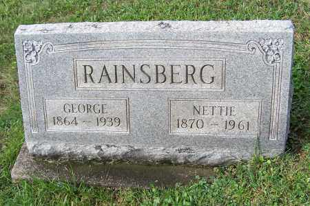 RAINSBERG, GEORGE - Tuscarawas County, Ohio | GEORGE RAINSBERG - Ohio Gravestone Photos