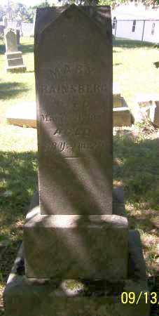 RAINSBERG, MARY - Tuscarawas County, Ohio | MARY RAINSBERG - Ohio Gravestone Photos
