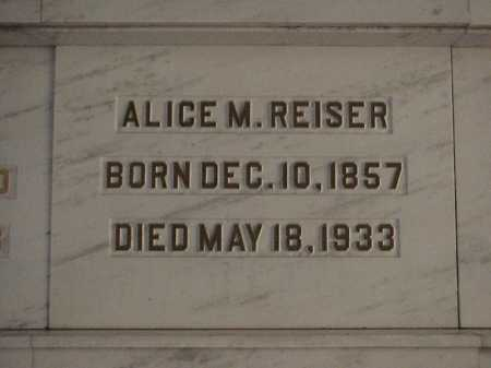 REISER, ALICE M. - Tuscarawas County, Ohio | ALICE M. REISER - Ohio Gravestone Photos