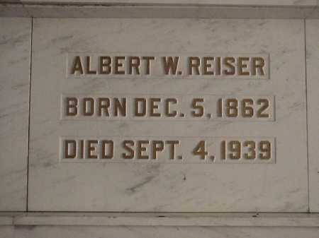 REISER, ALBERT WILLIAM - Tuscarawas County, Ohio | ALBERT WILLIAM REISER - Ohio Gravestone Photos
