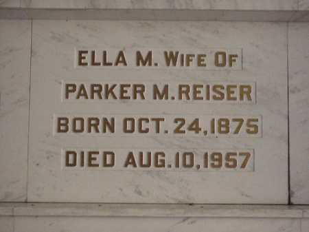 REISER, ELLA M. - Tuscarawas County, Ohio | ELLA M. REISER - Ohio Gravestone Photos